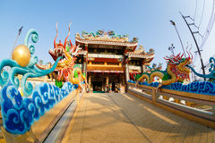 Celebration of the Chinese new year in the temple Saphan Hin Stock Photo