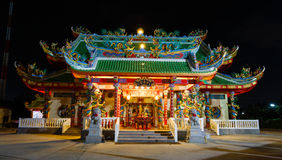 Celebration of the Chinese new year in the temple Saphan Hin Royalty Free Stock Photos