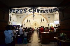 The celebration of Christmas Mass Royalty Free Stock Photo