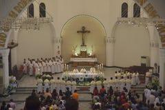 The celebration of Christmas Mass Royalty Free Stock Image