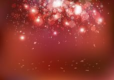 Celebration, Christmas party event, confetti falling on floor, s royalty free illustration