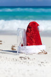 Celebration Christmas on tropical vacation Stock Images