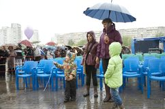 The celebration of city Day in Gomel (Belarus). Stock Photo