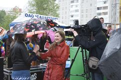 The celebration of city Day in Gomel (Belarus). Stock Image