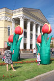 Celebration of the city Kaliningrad Stock Photos