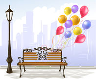 Celebration in the city. Vector illustration stock illustration