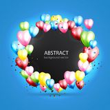 Celebration colorful background with balloons. Vector illustrati. Celebration colorful background with balloons. Modern greeting card with place for your text Stock Photo