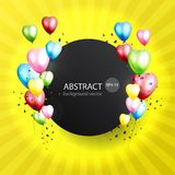 Celebration colorful background with balloons. Vector illustrati. On Stock Images