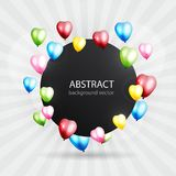 Celebration colorful background with balloons. Vector illustrati. On Royalty Free Stock Images