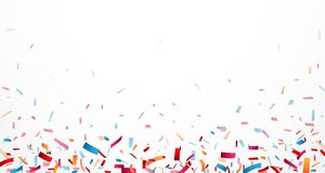 Celebration with Colorful confetti Royalty Free Stock Photos