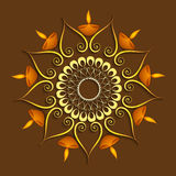 Celebration colorful decoration Diwali diya background Royalty Free Stock Images