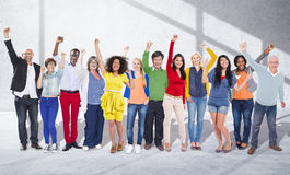 Celebration Community Cheerful Happiness Success Concept Stock Photo