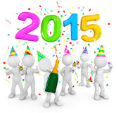 2015 Celebration Concepts Isolated on White Stock Images