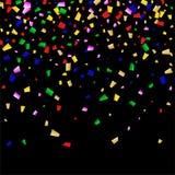 Celebration Confetti Background. Many Falling Confetti for Your Design. Holiday Decoration Elements. Festive Vector Illustration. Celebration Confetti Background Stock Image