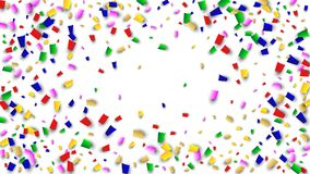 Celebration Confetti Background. Many Falling Confetti for Your Design. Holiday Decoration Elements. Festive Vector Illustration. Celebration Confetti Background Stock Photo