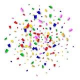 Celebration Confetti Background. Many Falling Confetti for Your Design. Holiday Decoration Elements. Festive Vector Illustration. Celebration Confetti Background Stock Photos