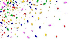 Celebration Confetti Background. Many Falling Confetti for Your Design. Holiday Decoration Elements. Festive Vector Illustration. Celebration Confetti Background Royalty Free Stock Photos