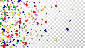 Celebration Confetti Background. Many Falling Confetti for Your Design. Holiday Decoration Elements. Festive Vector Illustration. Celebration Confetti Background Royalty Free Stock Image