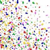 Celebration Confetti Background. Many Falling Confetti for Your Design. Holiday Decoration Elements. Festive Vector Illustration. Celebration Confetti Background Royalty Free Stock Images
