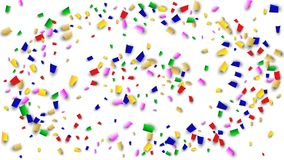 Celebration Confetti Background. Many Falling Confetti for Your Design. Holiday Decoration Elements. Festive Vector Illustration. Celebration Confetti Background Stock Images