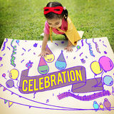 Celebration Congratulations Kid Enjoyment Concept Stock Photo