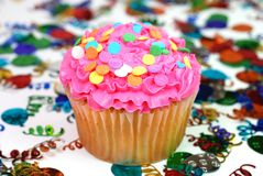 Celebration Cupcake Royalty Free Stock Image