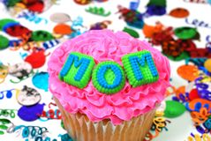 Celebration Cupcake - Mom Royalty Free Stock Photography