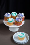 Celebration cupcakes on stand Royalty Free Stock Photography