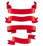 Celebration Curved Ribbons Variations  on White Stock Photo