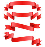 Celebration Curved Ribbons Variations  on White Stock Photography