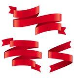 Celebration Curved Ribbons Variations  on White Stock Image