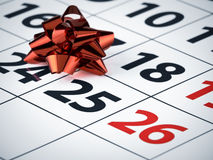 Celebration date Royalty Free Stock Photography