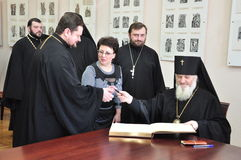 The celebration of the Day of Orthodox books in the Gomel diocese may 18, 2012. Stock Images