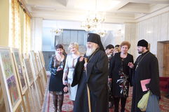 The celebration of the Day of Orthodox books in the Gomel diocese may 18, 2012. Stock Photos