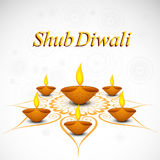 Celebration decoration Diwali diya rangoli  Royalty Free Stock Photo