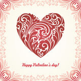 Celebration decorative background with heart and place for your text. Vector Ill. Happy Valentine's day! Celebration decorative background with heart and place Stock Photo