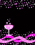 Celebration drink and stars vector illustration