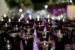 Celebration Drinks. In classes set on table for party Stock Images