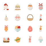 Celebration easter icons Royalty Free Stock Images