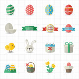 Celebration Easter icons. This image is a vector illustration Stock Photography