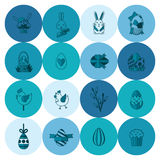 Celebration Easter Icons Stock Images