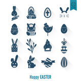 Celebration Easter Icons Royalty Free Stock Image