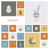 Celebration Easter Icons Royalty Free Stock Photos