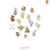 Celebration Easter Icons Royalty Free Stock Photo