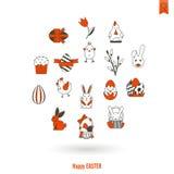 Celebration Easter Icons Stock Image