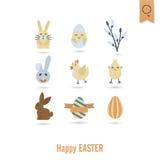Celebration Easter Icons Stock Photos
