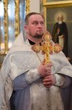 He celebration of Easter in the Russian Orthodox Church on 12 April 2015. Royalty Free Stock Images