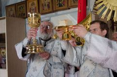 He celebration of Easter in the Russian Orthodox Church on 12 April 2015. Stock Image