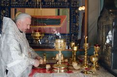 He celebration of Easter in the Russian Orthodox Church on 12 April 2015. Stock Photos