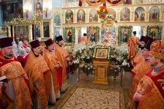 He celebration of Easter in the Russian Orthodox Church on 12 April 2015. Stock Images